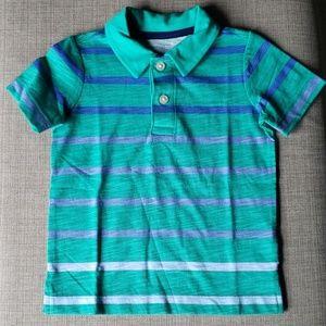 Green ombre striped polo